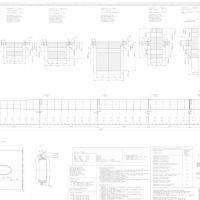 Technische Zeichnung - Stahlrohrturm