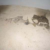 Turmanschluss - starke Rissbildung (umlaufend) im Turmfundamten