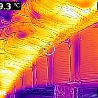 Thermografie - Synchrongenerator (Polschuhe)